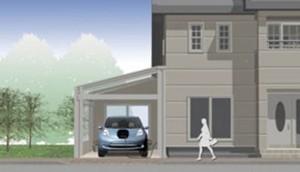 घर पर एक इलेक्ट्रिक वाहन चार्ज