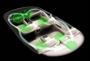 Innenansicht der neuen Auto Lexus LS 600h 2