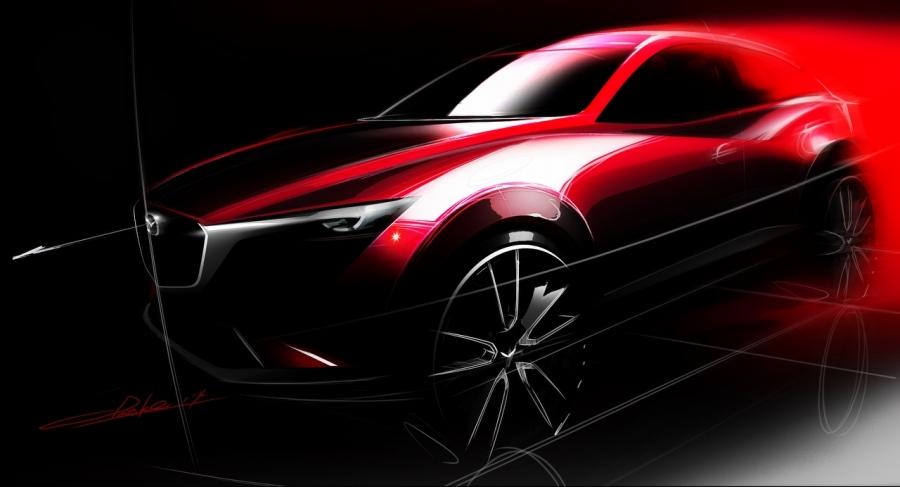 Mazda CX-3 att presenteras på LA Auto Show