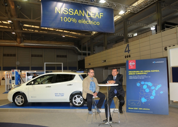 نقاط إعادة الشحن أكثر سرعة للسيارات الكهربائية في اسبانيا 2013