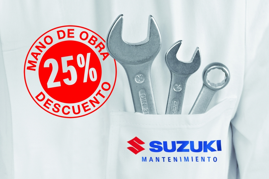25% discount on labor for the maintenance of your Suzuki