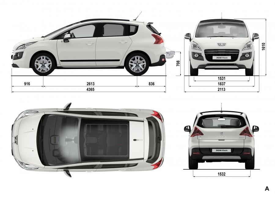 If you're a client have a Peugeot Hybrid 4 by 200 € per month