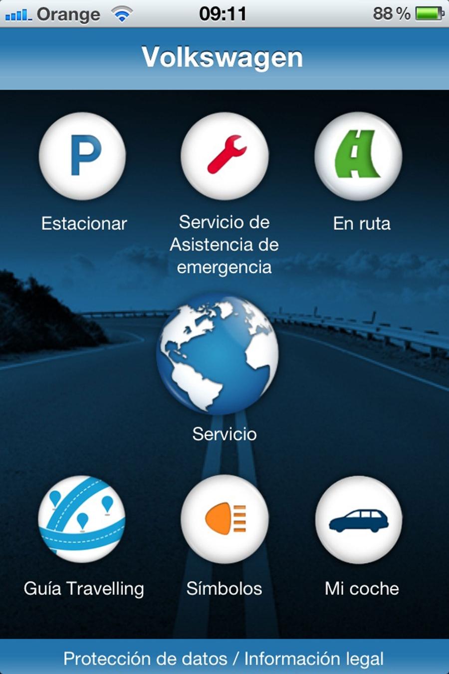 Aplicativo de serviço Volkswagen: assistência ao condutor de Mobile