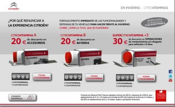 Citrovitaminas, Citroën donne des bons de réduction et 20 30 € €