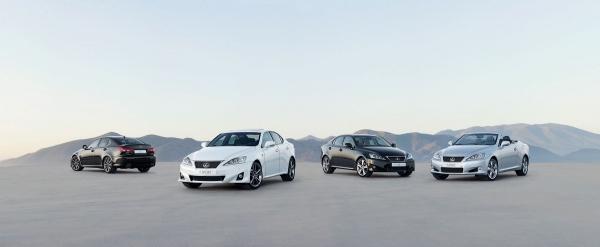 Een spel van Lexus IS Cabrio en IS F geroepen om te beoordelen