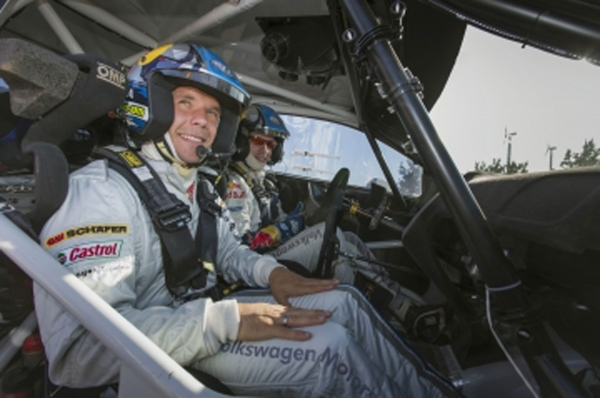 Now you can bid for a return to the WRC Polo helmet and Podolski