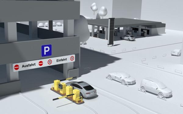 ऑडी के साथ wirelessly पार्किंग वेतन