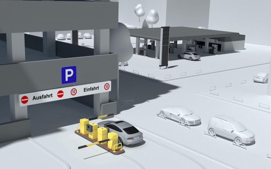 Betala parkering trådlöst med Audi