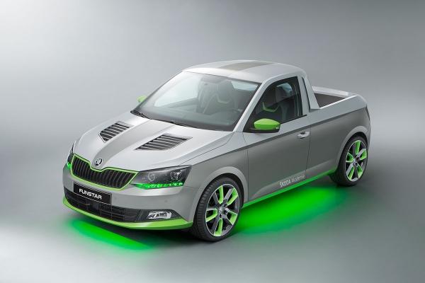Funstar, prototyp navržený učni pickup Škoda