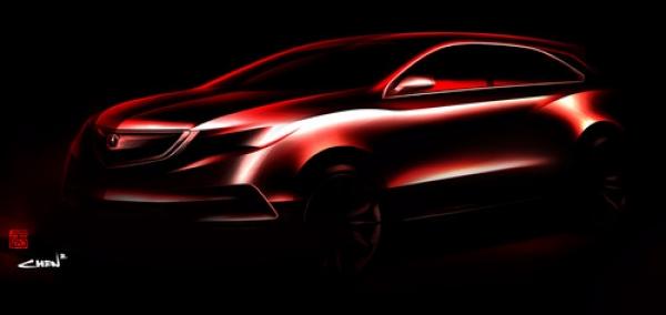 New prototype Acura MDX SUV 2014
