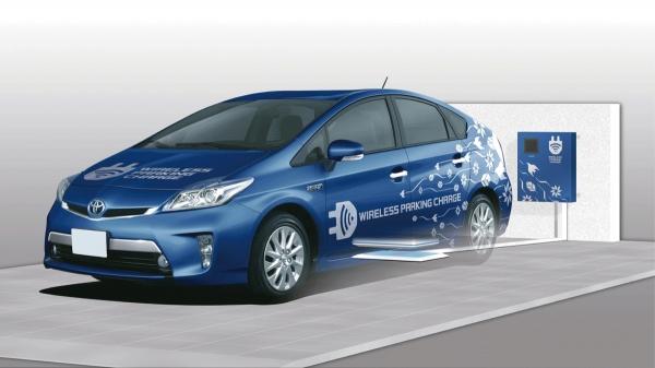 Testa Toyota ricarica senza fili del veicolo