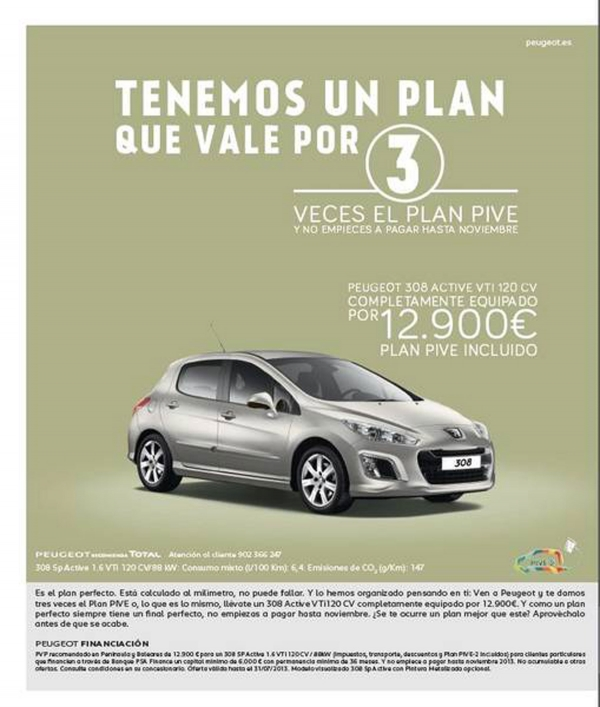 Plan your PIVE Peugeot multiplied by 3