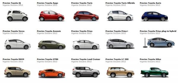 Toyota nabídky a Španělsko za říjen